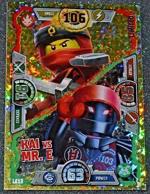 LEGO NINJAGO Limited Edition series 3 Trading Card LE13 KAI vs MR.E