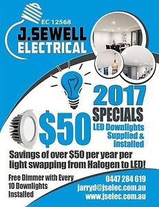 SUPPLY INSTALL LED DOWNLIGHTS - $40 Banksia Grove Wanneroo Area Preview
