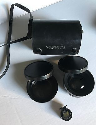 Wide Angle Viewfinder - Yashica Conversion Lens and Wide Angle & Viewfinder set with case excellent
