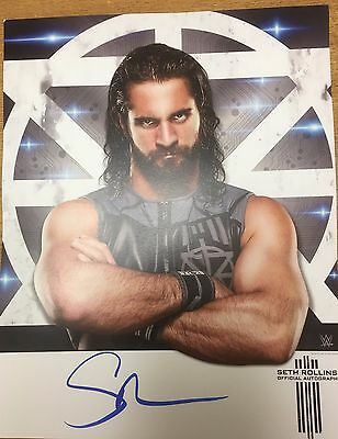 WWE WRESTLING HAND SIGNED SETH ROLLINS 11X14inch OFFICIAL PHOTO POSTER AUTOGRAPH