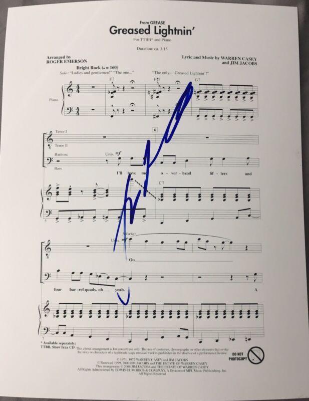 JOHN TRAVOLTA SIGNED AUTOGRAPH GREASED LIGHTNING CUSTOM GREASE SONG SHEET MUSIC