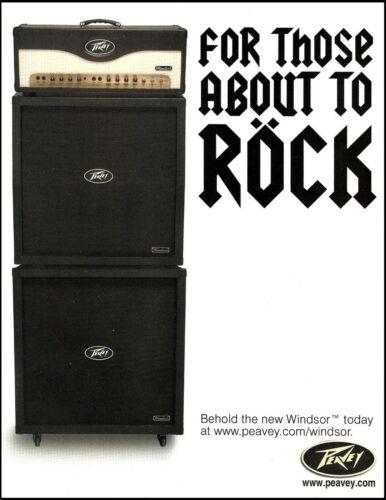 Peavey Windsor Series 2006 guitar amp advertisement 8 x 11 amplifier ad print