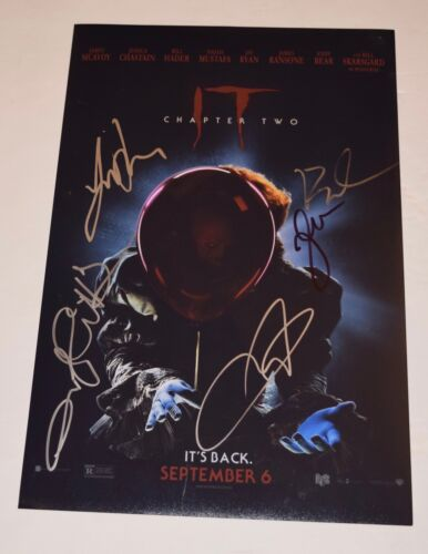 IT CHAPTER 2 Cast Signed 11x17 Poster x5 James McAvoy Jessica Chastain Andy COA