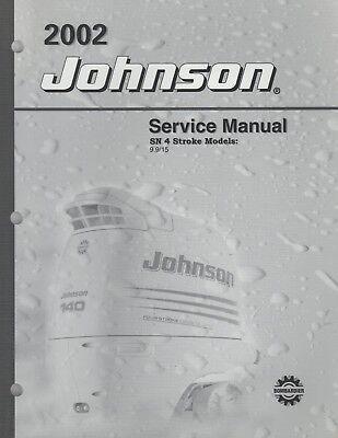2002 JOHNSON OUTBOARD SN 4 STROKE 9.9 & 15 SERVICE MANUAL P/N 5005470 (521)