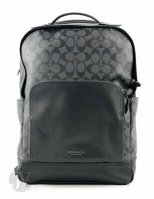 New Coach Graham Men/'s Leather PVC Charles Backpack F38751$350