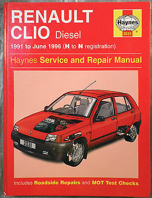Haynes Workshop Manual Renault Clio (diesel) from 1991 to 1996.