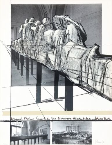 """Christo And Jeanne-claude """"wrapped Statues"""" 1988 