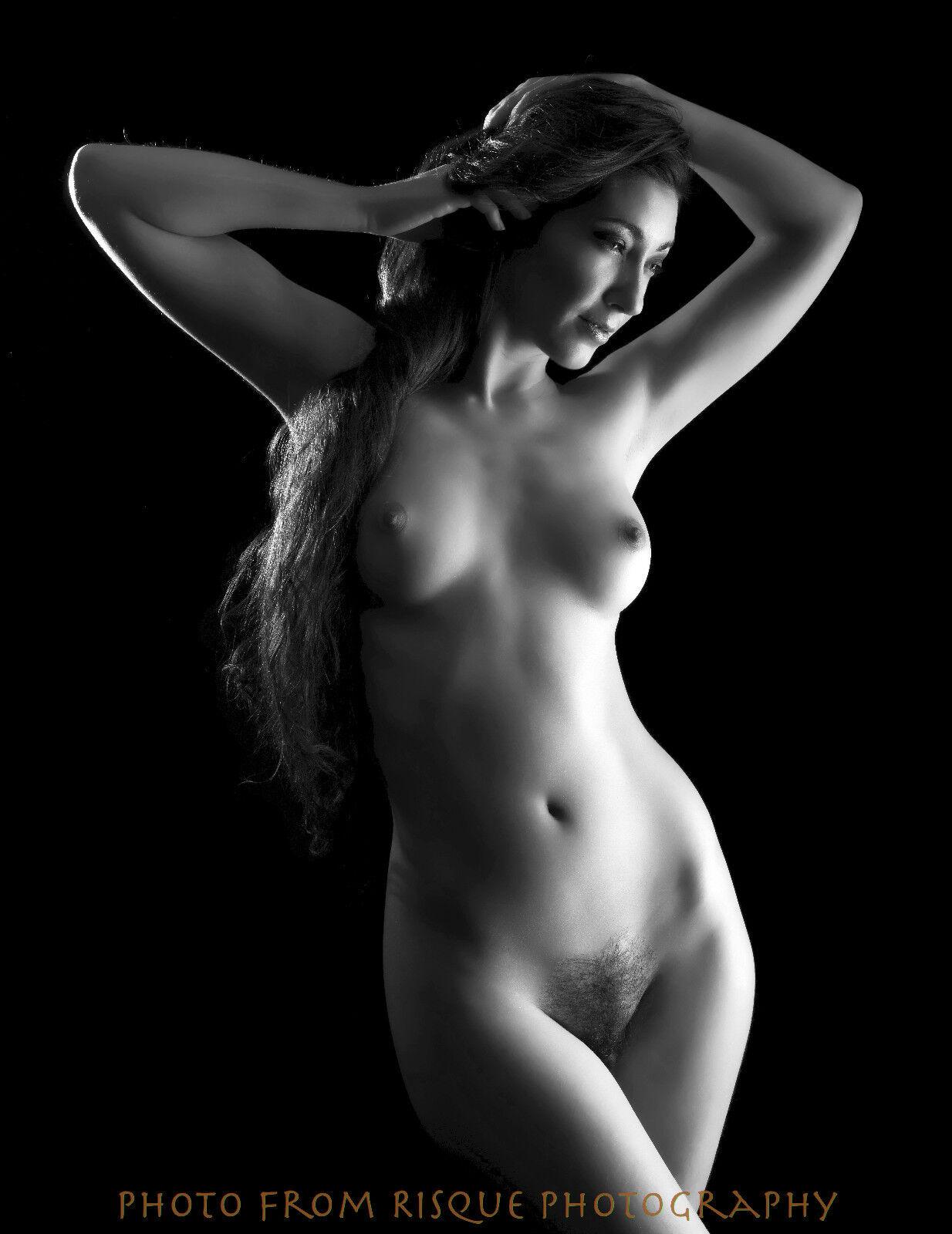 Modern Nude Woman W Long Hair  X Photo Print Naked Female