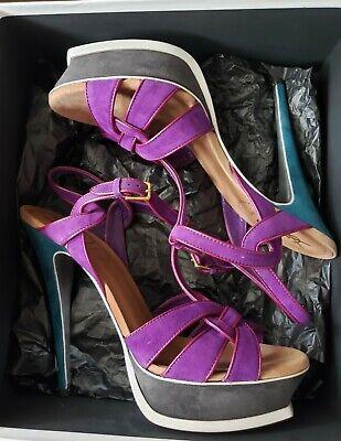 f664b1d9 Yves Saint Laurent Tribute 105 Quartz Glitter Platform Sandals 1095 ...