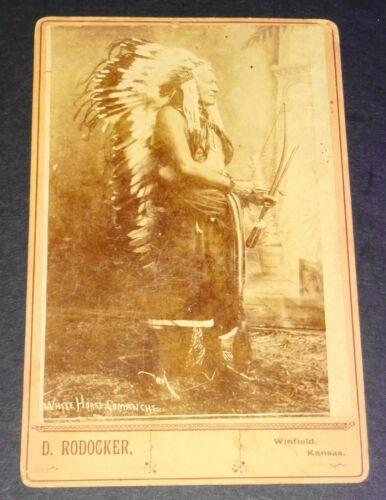 1880s Cabinet Image of Comanche Chief White Horse by Dave Rodocker