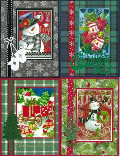 Handmade CHRISTMAS CARDS #C14--Lot of 4