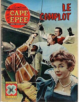 AVENTURES DE CAPE ET D'EPEE 7 (1963) LE COMPLOT roman photo