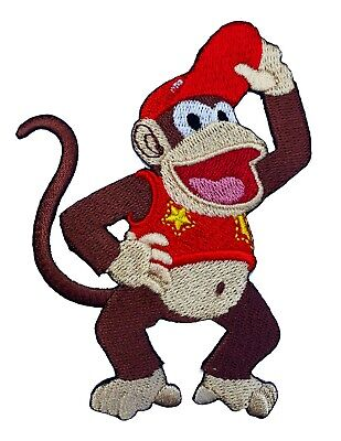 Diddy Kong Costume (Diddy Kong Patch Embroidered Iron on Badge Donkey Ape Monkey Costume Retro)