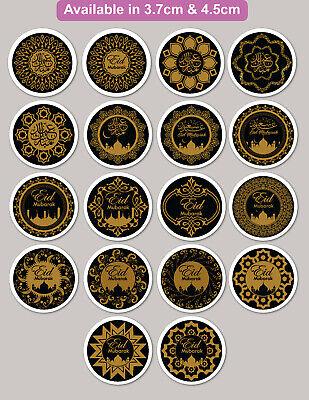 24 & 35 Eid Mubarak & Ramadan Stickers Labels Thanks Bag GLOSS MATT