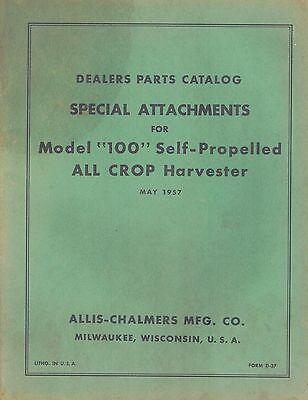 Allis Chalmers Vintage 100 All-crop Harvester Parts Manual