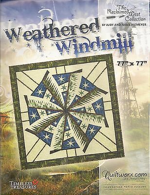 Judy Niemeyer Weathered Windmill Foundation Paper Pieced Quilt Pattern](Weathered Paper)