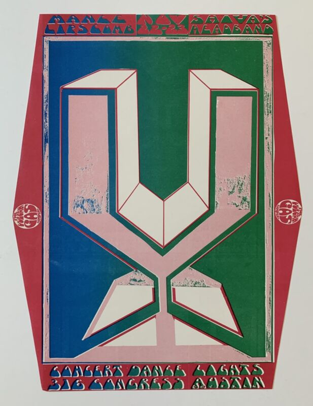 The Vulcan Gas Company Mance Lipscomb Original 1968 Concert Handbill