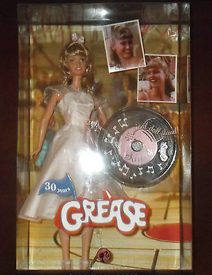 NEW!! Barbie 2008 30th Anniversary Grease Sandy Musical Doll Stand - BRAND NEW!!