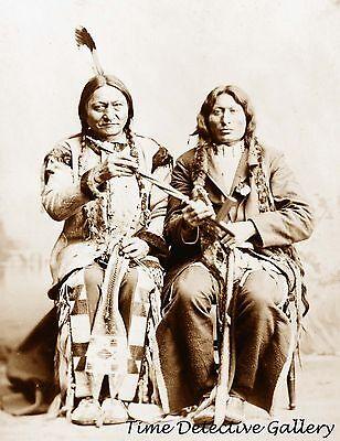 Teton Sioux Sitting Bull & Nephew One Bull - 1884 - Historic Photo Print