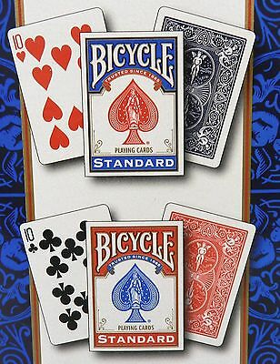 NEW Sealed Package Deck of BICYCLE Standard Face Poker Playing Cards Red or Blue