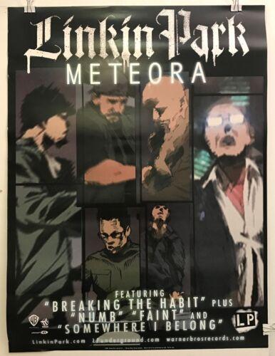 """LINKIN PARK Meteora / Projekt Revolution 2-Sided 2004 18""""x24"""" PROMO poster"""