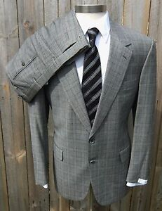 New BRIONI Italy Augusto Grey Glen Plaid 2Btn Suit 54 44 44R NWT $6895!