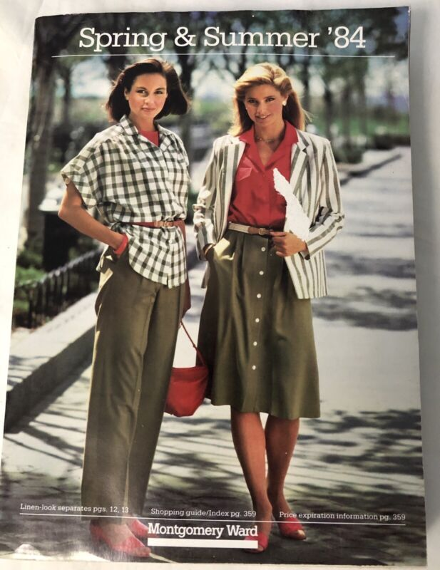 MONTGOMERY WARD 1984 SPRING & SUMMER CATALOG 968 pages Vintage Clothes Shoes etc