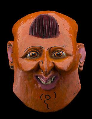 Small Mask nepal Protector orange Shaman ancestor Himalaya Tibet 26112 B9