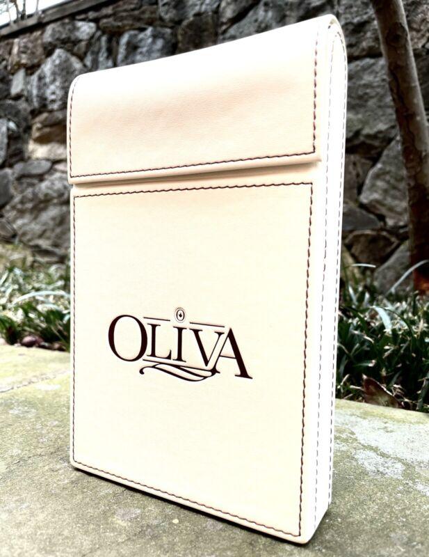 Oliva Cigars Luxury Leather Travel Case, Holds 5+ Cigars