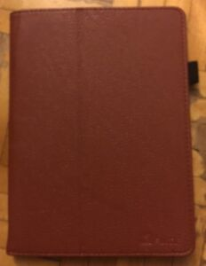 "Brown Faux leather case for 7"" Acer Tablet"