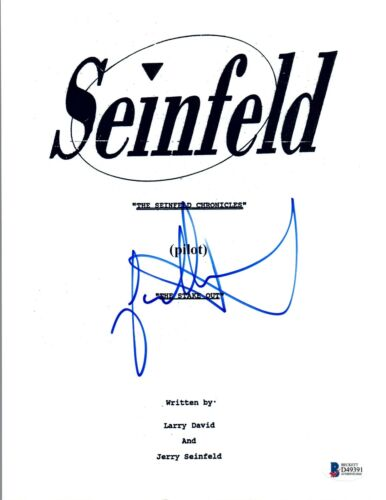 Jason Alexander Signed Autographed SEINFELD The Stake Out Pilot Script BAS COA