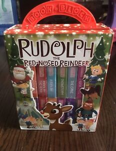 Gently used Rudolph The Red-Nosed Reindeer Board Block Books Set
