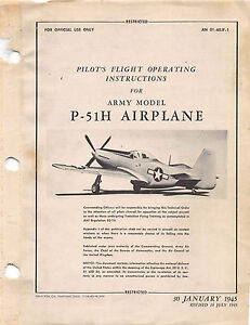 Pilots flight operating instructions world war ii book flight manual