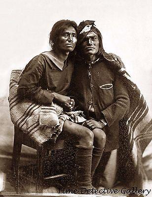 Native American Navajo Two-Spirit (Berdache) Couple - Historic Photo Print