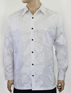 mens white hawaiian wedding shirt long sleeve 100 cotton s