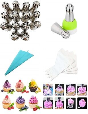 14 Sphere Ball Russian Icing Piping Tips Nozzles Cake Decor Pastry Baking Tools (Ice Decorations)
