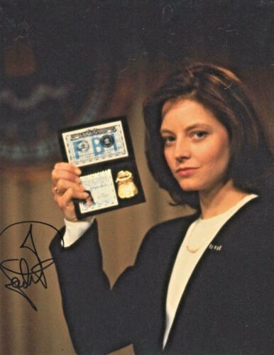 Jodie Foster Signed The Silence of the Lambs 10x8 Photo ACOA Certified