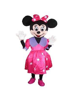 Minnie Maus Maskottchen Kostüm Erwachsene Halloween Geburtstag Disney ()