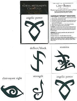 Mortal Instruments Shadowhunters Set of 5 Temporary Tattoo's Cosplay Costume NEW