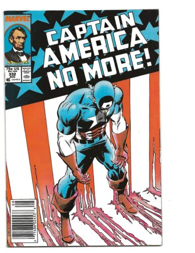 Captain America 332 (1987) STEVE ROGERS QUITS AS CAP!!!  NEWSTAND COPY!!!