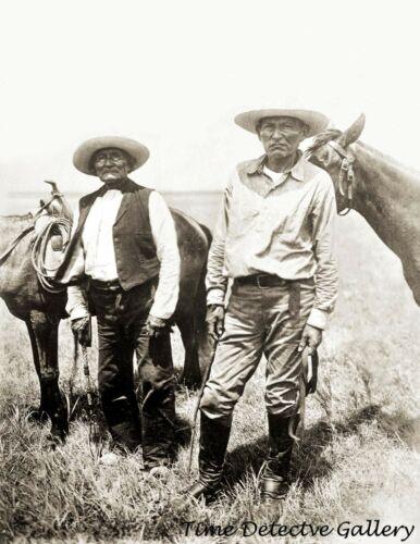 Native American Apaches Geronimo & Christidi Naiche c1885 - Historic Photo Print