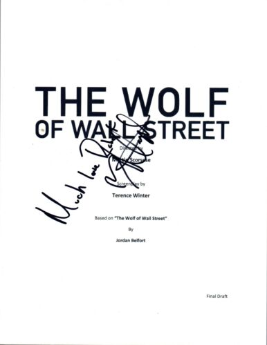 Margot Robbie Signed Autographed THE WOLF OF WALLSTREET Movie Script COA VD