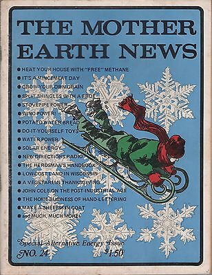 Mother Earth News Magazine   24 November 1973 Special Alternative Energy Issue