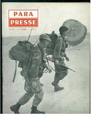 PARA PRESSE REVUE DE PARACHUTISTES FRANCAIS N. 35 1960 PARACADUTISMO AERONAUTICA