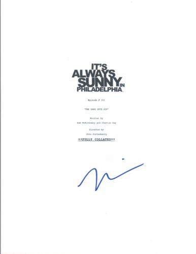 Mary Elizabeth Ellis Signed It's Always Sunny in Philadelphia Pilot Script COA