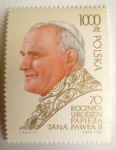 POLAND-STAMPS MNH Fi3117 SC2966 Mi3265 - Pope John Paul II - 1990, clean - <span itemprop=availableAtOrFrom>Reda, Polska</span> - POLAND-STAMPS MNH Fi3117 SC2966 Mi3265 - Pope John Paul II - 1990, clean - Reda, Polska