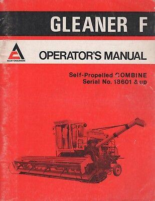 1974 Allis-chalmers Gleaner F Self-propelled Combine Operators 1182604 372