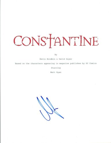 Matt Ryan Signed Autographed CONSTANTINE Pilot Episode Script COA AB