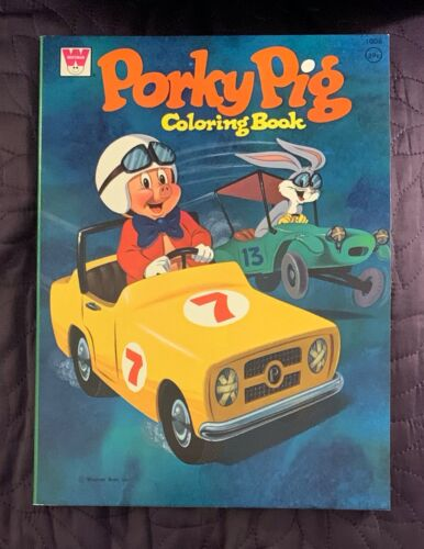 WHITMAN  PORKY PIG COLORING BOOK  1008  1972  UNUSED  SHARP COPY