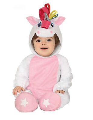Einhorn Baby-Kostüm Unicorn-Overall rosa-weiss - Weißen Overall Kostüm